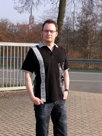Rathaus Frankenberg Polo-Shirt vorne